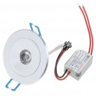 1W 80-90LM Warm White LED Ceiling Lamp with LED Driver (85-265V)