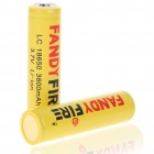 "LC Protected 18650 Rechargeable 3.7V ""3600mAh"" Li-ion Batteries - Yellow (Pair)"