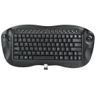 81-Key Portable 2.4GHz Wireless Keyboard with Trackball Mouse & USB Receiver (2 x AA)