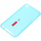 Protective Soft Plastic Case + Screen Guard + Stand for Ipod Touch 4 - Blue