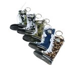 Cam Boot Shape Keychain with Clock