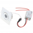 1W 80-90LM Warm White LED Ceiling Lamp Light with LED Driver (85-265V)