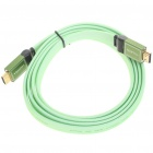1080P HDMI V1.4 Male to Male Flat Connection Cable - Green (1.8M-Length)