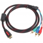 HDMI to 3 RCA Video Component Cable (1.5M-Length)
