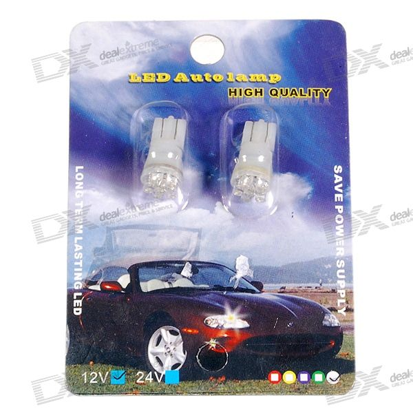 6-LED 12V Vehicle Signal Lights (2-Pack White)