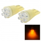 6-LED 12V Vehicle Signal Lights (2-Pack Yellow)