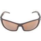 Fashion Sports UV400 UV Protection PC Frame Resin Lens Sunglasses - Coffee