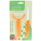 "3"" Chic Chefs Horizontal Ceramic Knife + Peeler Set"