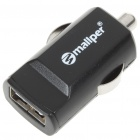 Mini Car Cigarette Powered USB Adapter/Charger for iPhone/iPad/iPad 2 - Black (DC 5V)