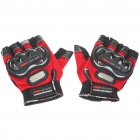 Stylish Half-Finger Racing Gloves - Red (Size L/Pair)
