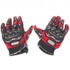 Stylish Full-Finger Racing Gloves - Red (Size XL/Pair)