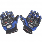 Stylish Full-Finger Racing Gloves - Blue (Size XL/Pair)