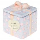 Cute Lovers Style Resin Trinket Box Ornament