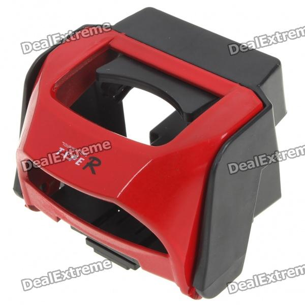 Universal Car Drink Cup Vent Mount Holder - rot + schwarz