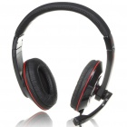 PC/Laptop Stereo Headphone with Microphone & Volume Control - Black + Red (3.5mm Jack/2M Cable)