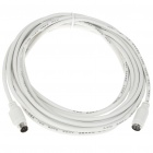 PS/2 Keyboard/Mouse 6-Pin Male to Female Extension Cable White (5M)