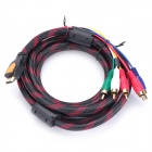 Gold Plated HDMI to Component Video+Audio 5-RCA Cable (3M-Length)