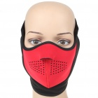 Universal Face Mask - Red + Black