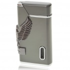Vintage Zinc Alloy Windproof Butane Lighter - Dark Gray