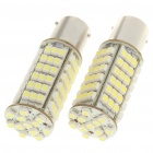 BAU 15S 102x3528 5W SMD LED 410-Lumen 6500K Brake/Backup White Light Bulbs (Pair/DC 12V)