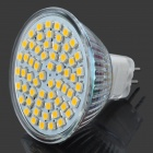 MR16 4W 240lm 60*3528 SMD LED 3500K Warm White Light Bulb (DC 12V)
