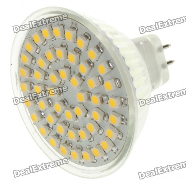 MR16 3W 48x3528 SMD LED 192-Lumen 3500K Warm White Light Bulb (12V)