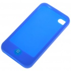 Protective Silicone Case w/ LCD Protector + Cleaning Cloth + Anti-Dust Kit for iPhone 4 - Blue