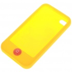 Protective Silicone Case w/ LCD Protector + Cleaning Cloth + Anti-Dust Kit for iPhone 4 - Yellow