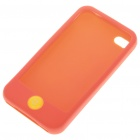 Protective Silicone Case w/ LCD Protector + Cleaning Cloth + Anti-Dust Kit for iPhone 4 - Red