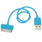USB Data/Charging Cable for iPad/iPod/iPhone - Blue