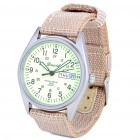 Military Glow-in-the Dark Water Resistant Quartz Wrist Watch - Beige (1 x SR626SW)