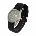 Military Glow-in-the Dark Water Resistant Quartz Wrist Watch - Black