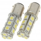 BAY15D 3.6W 180LM 18-SMD LED White Light Car Brake/Turning/Backward Signal Light Bulbs (Pair)