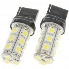 T20 3.6W 180LM 18-SMD LED White Light Car Brake/Turning/Backward Signal Light Bulbs (Pair)