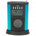 "1.8"" LCD Mini USB Rechargeable MP3 Music Stereo Speaker with FM/SD/MMC/USB - Blue + Black"