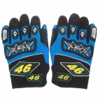 Professional Skid-Proof Motorcycle Racing Gloves for Men - Blue (XL-Size/Pair)