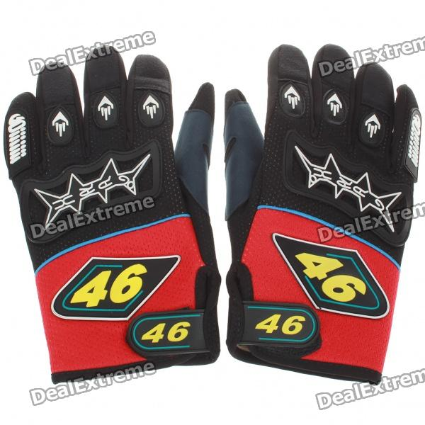 Professional Skid-Proof Motorcycle Racing Gloves for Men - Red (XL-Size/Pair)