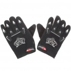 Professional Skid-Proof Motorcycle Racing Gloves - Black (XL-Size/Pair)