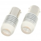1156 2W 150-Lumen Car Brake/Turning Signal Yellow Light Bulbs with Optical Lens (Pair/DC 12V)