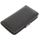 Protective Leather Case for HTC Desire HD - Black