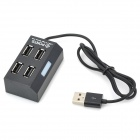 High Speed ​​USB 2.0 4-Port Hub - Negro
