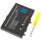 3.7V 2000mAh Replacement Lithium Battery with Screwdriver for NDS Lite