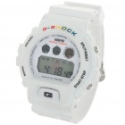 Sporty Multi-Function LED Digital Wrist Watch - White (1 x CR2016)