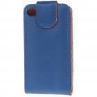 Protective Leather Case for Iphone 4 (Blue)