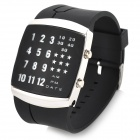 Stylish Digital 29-LED Wrist Watch with Silicone Watchband (2 x CR2016)