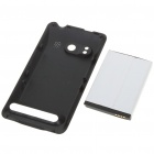 3.7V 3500mAh High Capacity Battery Pack with Back Cover for HTC EVO 4G - Black