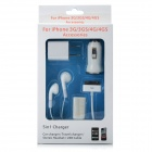5-in-1 Charger Kit for iPhone 3G/3GS/4/iPad - White