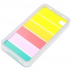 Charming Rainbow Protective Back Case for iPhone 4 - White