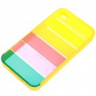 Charming Rainbow Protective Back Case for Iphone 4 - Yellow