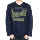 The Big Bang Theory Periodic Table of the Elements Long Sleeve T-shirt - Dark Blue (Size XXL)